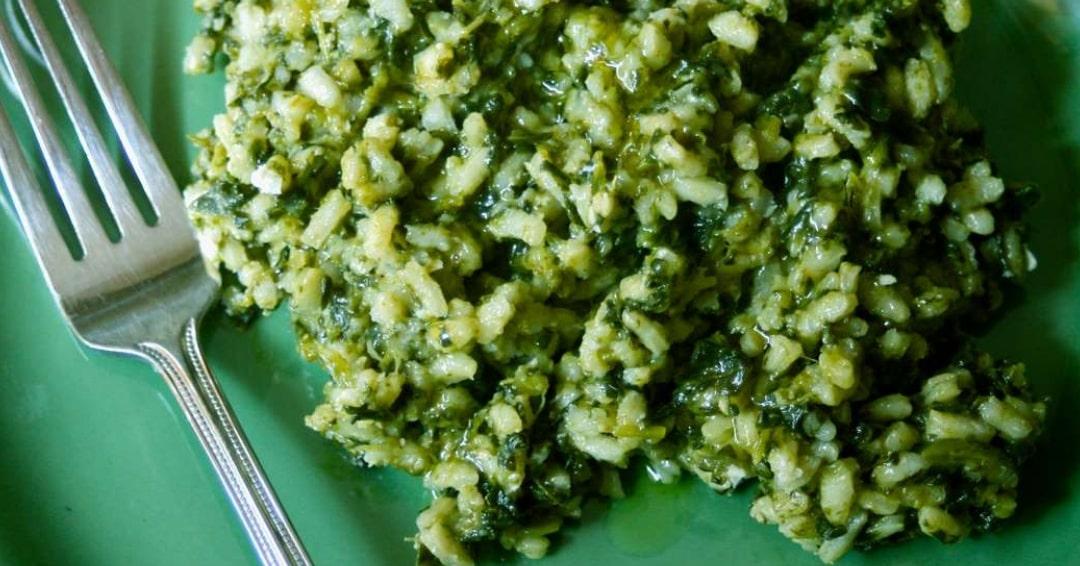 Riso thai agli spinaci freschi
